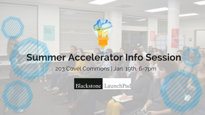 Startup Summer Accelerator 2017 Info Session