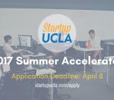 Startup UCLA Summer Accelerator 2017 Application Deadline