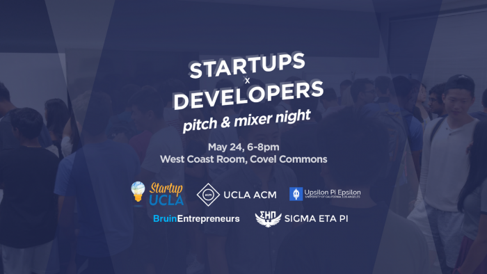 Startups x Developers: Pitch & Mixer Night