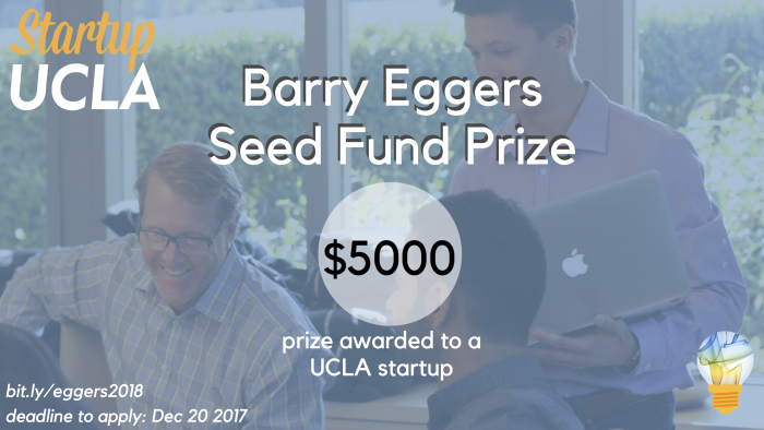 Apply for the 2018 Barry and Meredith Eggers Seed Funding Prize